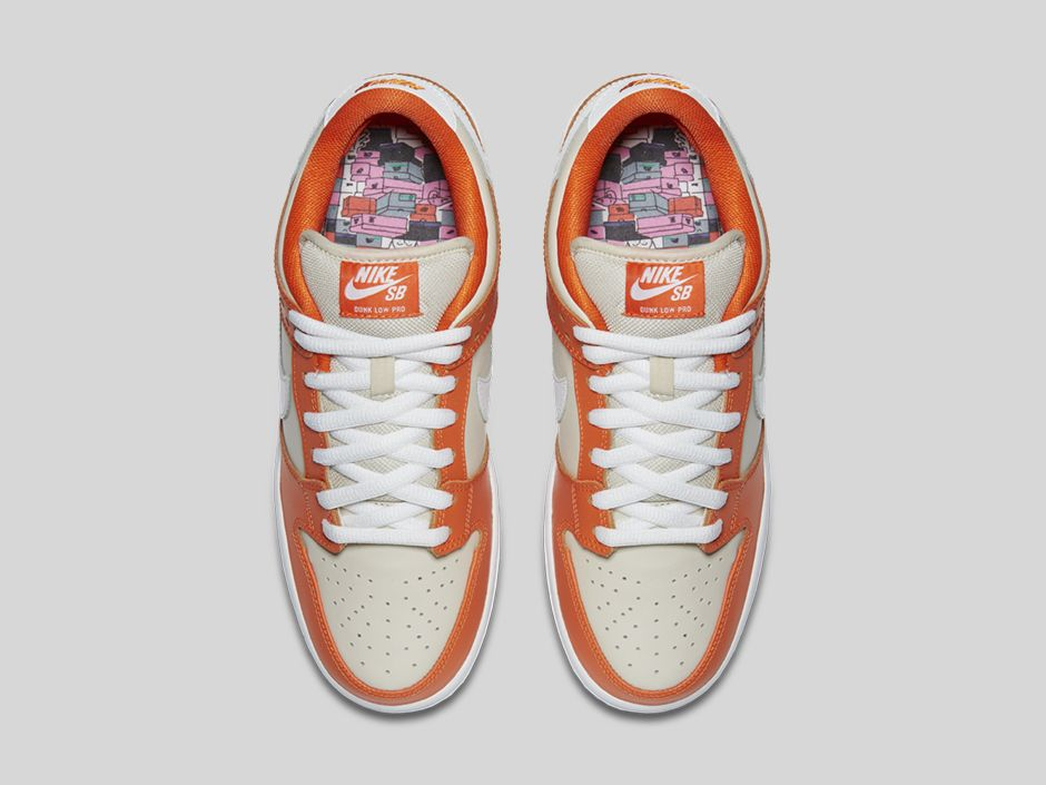 nike sb dunk low premium 'orange box' men's skateboarding shoe