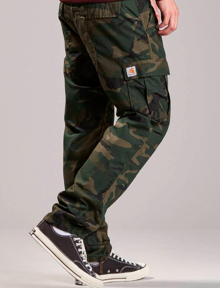 Carhartt Aviation Pant Camo Combat Green Rinsed