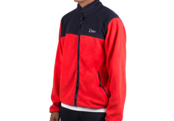 dime-polar-fleece-full-zip-red-navy-2-model-angle