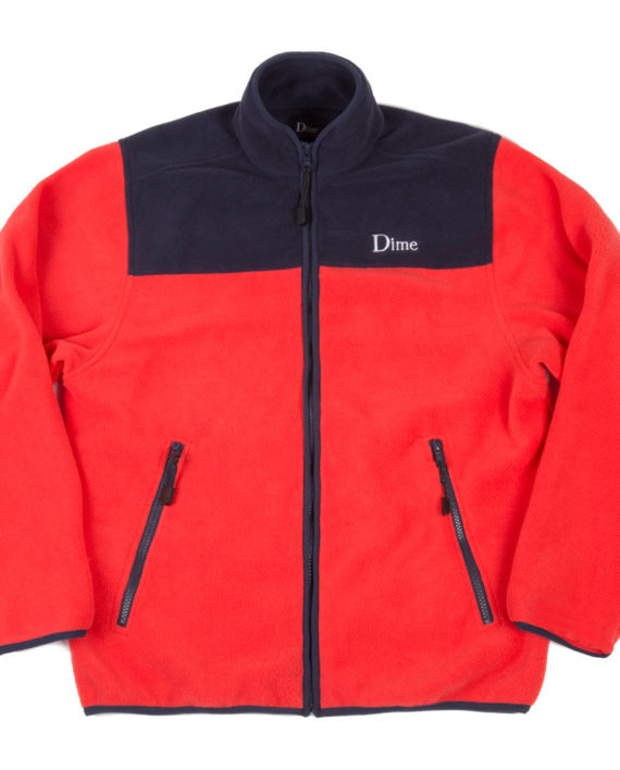 dime-polar-fleece-full-zip-red-navy