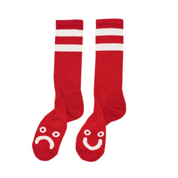 HAPPY-SAD-SOCKS-RED