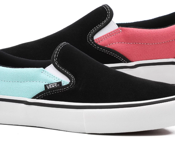 49c1ad466 Vans Slip On Pro Old Skool Pro Asymmetry – Black   Rose   Blue - Acriminalg  Skateboard Shop