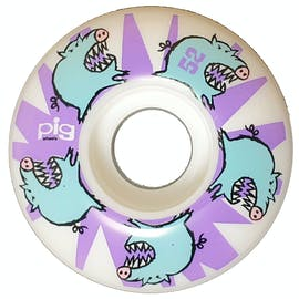 pig-wheels-teeth-101a-skateboard-wheels-white-pack-of-4-52mm